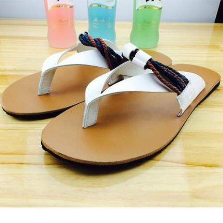 2015-hot-Personality-design-Genuine-leather-font-b-men-b-font-summer-beach-slippers