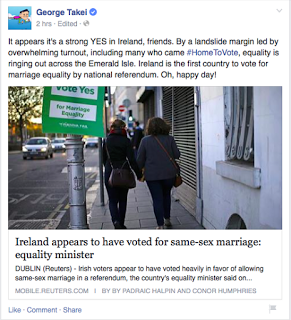 Catholic Ireland Says Yes to Human Rights (and Courage, Compassion, and Hope): Ball Now in Court of Church's Pastoral Leaders