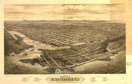 Bird's-eye view of Victoria