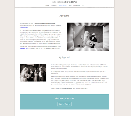 Manchester Wedding Photographer Mick Cookson About Page