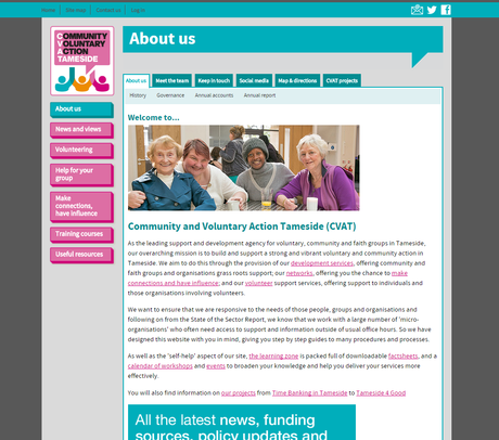 volunteers in tameside - about page