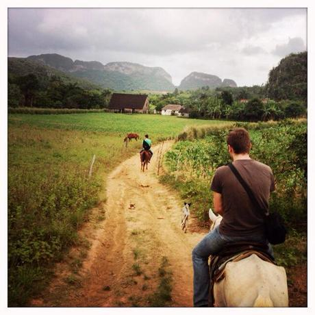 Horseback riding in the mountains of Vinales