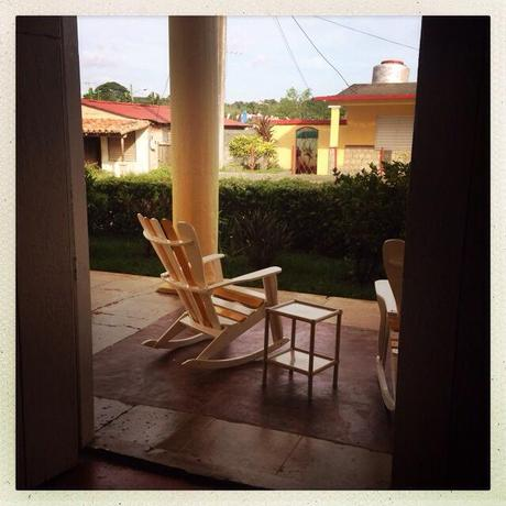 In Vinales, our hostess brought us fresh juice and cigars to accompany our lazy rocking chair afternoons, watching people pass.