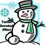 Twitter snowball effect