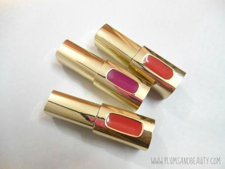 L'Oreal Paris Color Riche Extraordinaire Liquid Lipstick : Tangerine Sonate, Fuchsia Orchestra, Coral Encore