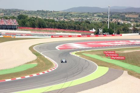 The view from our grandstand in Spain