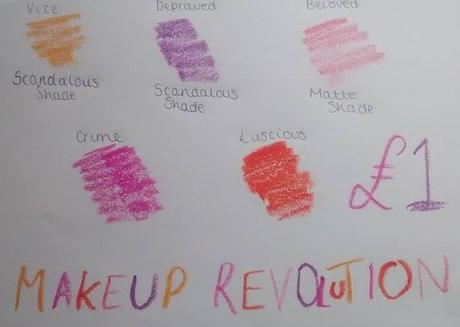 Makeup Revolution Lipsticks - Review