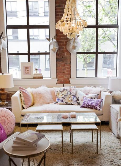 Such a fun and girly seating area!