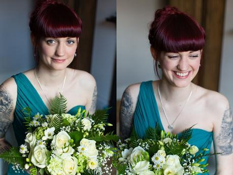 Furtho Manor Farm Wedding Photography Tattooed Bride