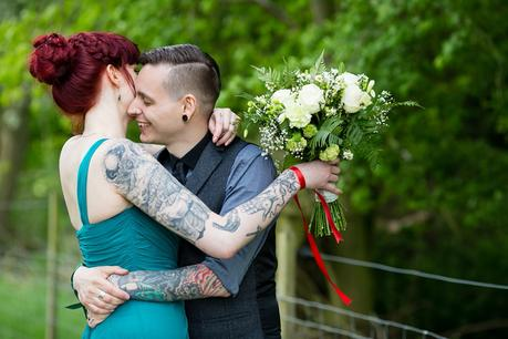 Furtho Manor Farm Wedding Photography Tattooed Bride & Groom