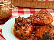 Smoked Chicken with Chipotle, Peach Bourbon Barbecue Sauce