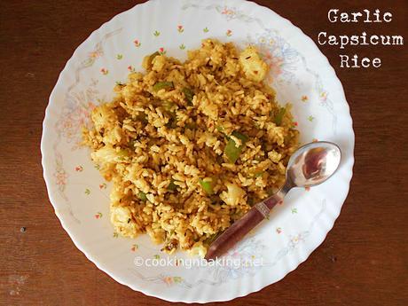 how to cook capsicum rice