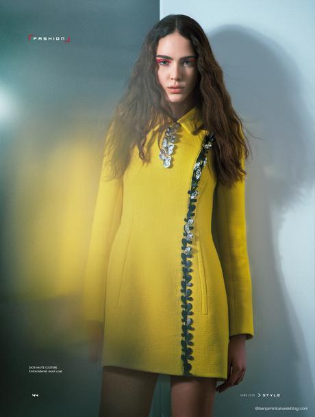 Tako Natsvlishvili in Christian Dior Couture for SCMP Style © Benjamin Kanarek
