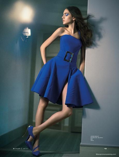 Tako Natsvlishvili in Atelier Versace for SCMP Style © Benjamin Kanarek