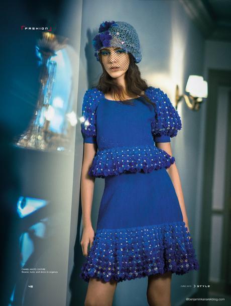 Tako Natsvlishvili in Chanel Couture for SCMP Style © Benjamin Kanarek