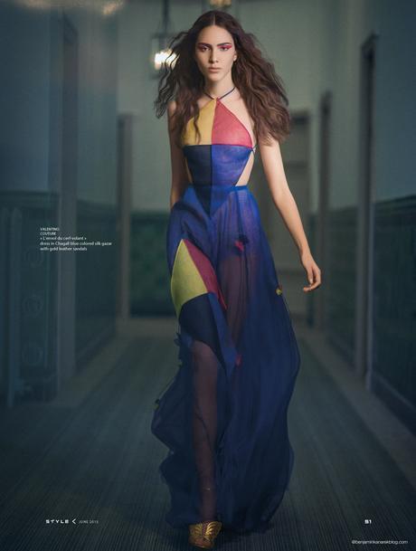 Tako Natsvlishvili in Valentino Couture for SCMP Style © Benjamin Kanarek