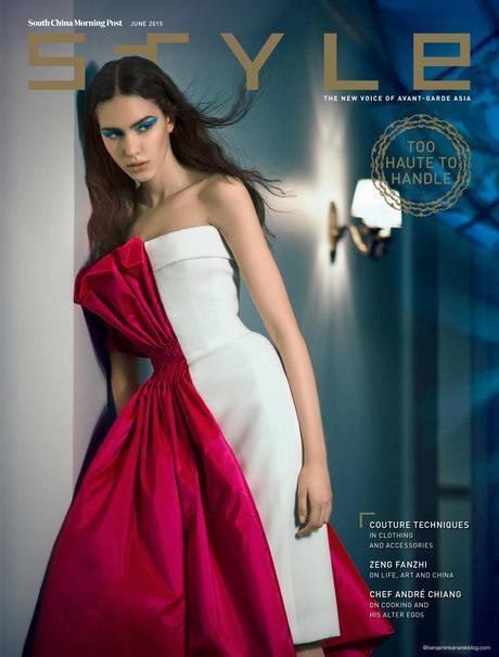 Tako Natsvlishvili in Gaultier Paris for SCMP Style Cover © Benjamin Kanarek