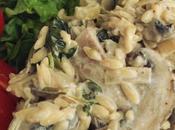 Creamy Mushroom Spinach 'Orzotto'
