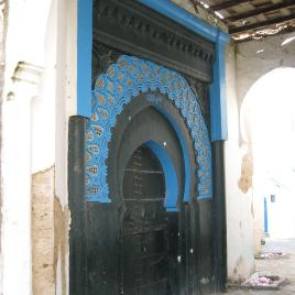 Arabic style arched door, Tangier.