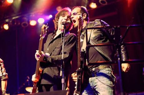 Gary Hoey and Mark Clarke Lawrence Gowan Joe Perry Rock & Roll Fantasy Camp All Star Jam at The Phoenix in Toronto Glen Reichwein