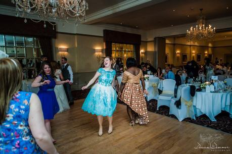 letting loose on dance floor