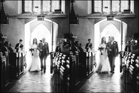 Bride enters with father