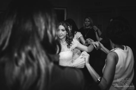 greek dancing with bride