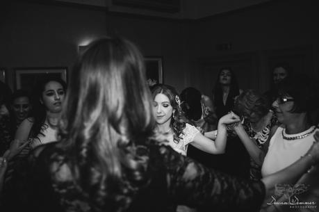 Bride greek dancing hendon hall hotel