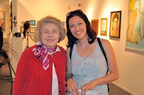 Portland, Oregon Artist Cedar Lee with Diana Faville, founder & owner of Attic Gallery