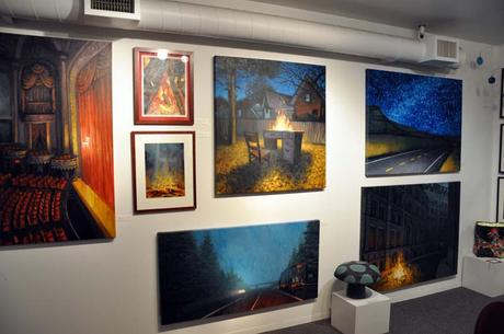 Artwork on display at Attic Gallery in Portland, Oregon