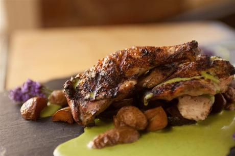 Quail with Green Pepper Recipe