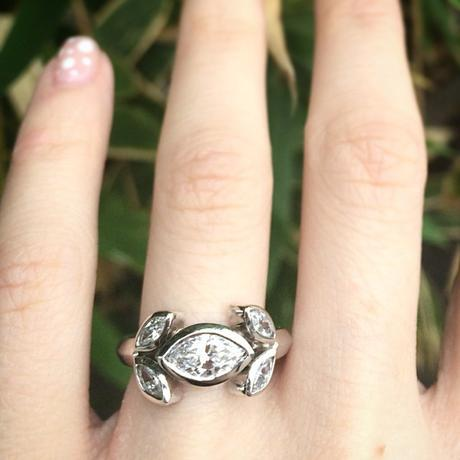 Suzanna Felsen Marquise engagement ring