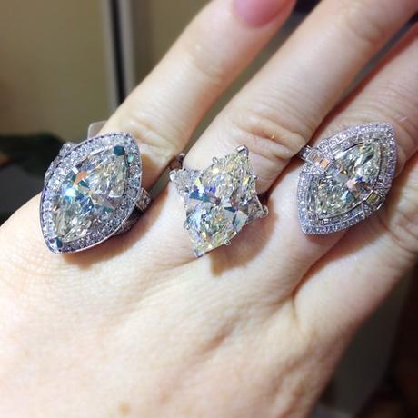 Marquise Diamond Engagement Rings