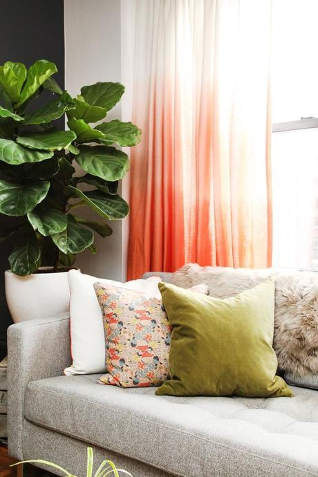 34 Genius Tips For An Instant Home Upgrade #refinery29 (love the tips about painting TV wall to make it fade into it and using ombre curtains to make ceiling appear higher).