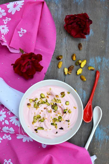 Rose Shrikhand (Gulab Shrikand)