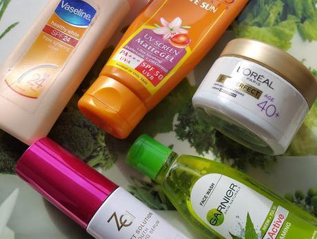 My Summer Skincare Heroes - Garnier, L'Oreal, Za, Vaseline and Lotus Herbals
