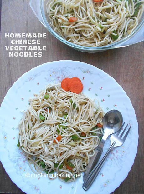 Homemade Chinese Veg Noodles