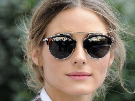 Olivia Palermo wearing Dior So Real sunglasses