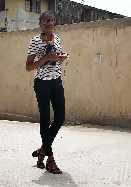Stripes, A print scarf and A decent vocabulary