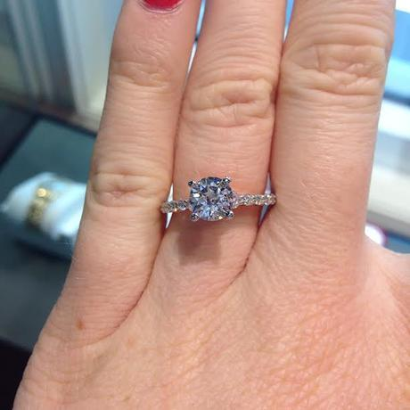 Perfect round solitaire engagement ring