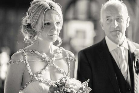 Devon Wedding - Bride & Father