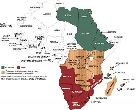 Map of TFTA