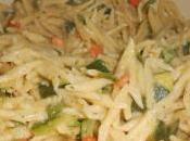 Trofie Zucchine Gamberetti (pasta with Zucchini Swrip)