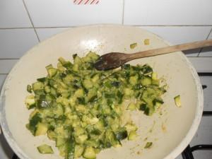trofie zucchine e gamberetti (pasta with zucchini and swrip)