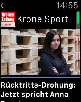 New Apple Watch sport app from Austria's Kronen Zeitung