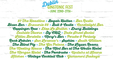 A Celebration of Irish Gin : Dublin Gin and Tonic Festival