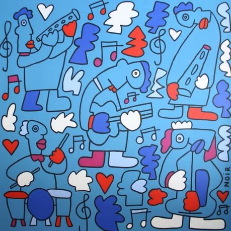 "Thierry Noir's ""Jazz"" at Howard Griffin Gallery"
