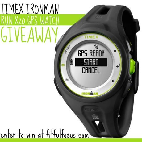 Timex Ironman Run X20 GPS Watch Giveaway via @FitfulFocus