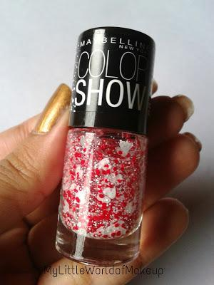 Maybelline Color Show Go Graffiti Nail Polish in Pop - goes - my - Heart Review and NOTD