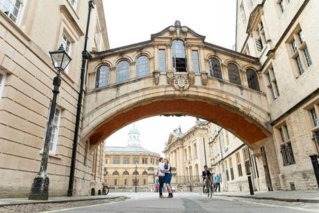 Engagement shoot in Oxford Bridge of Sighs